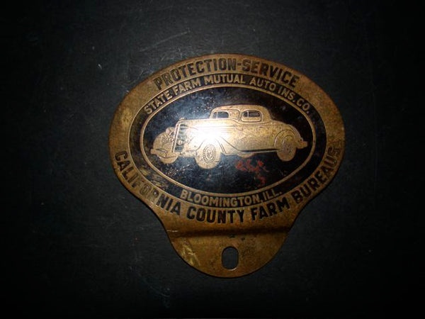 California County Farm Bureaus State Farm Badge 1930s