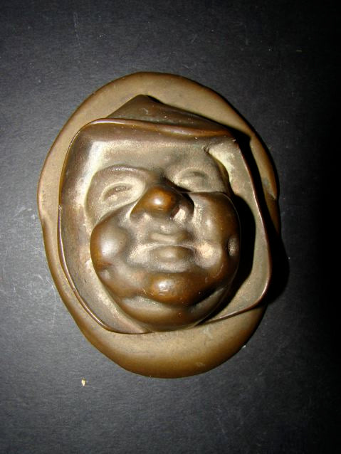 Bronze Monk Paper Weight