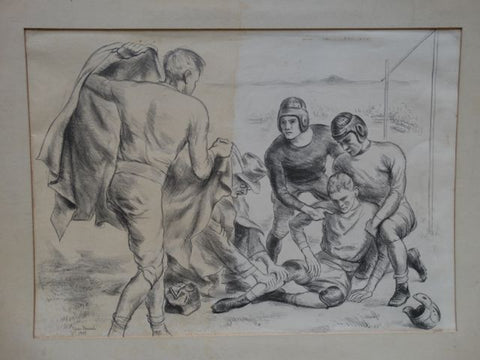 "Ejnar Hansen Litho, ""Football Players"""