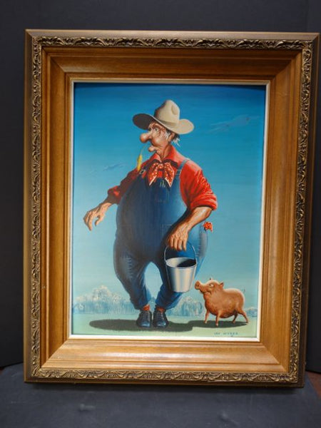 Irv Wyner The Farmer and his Pig Buddy P1045