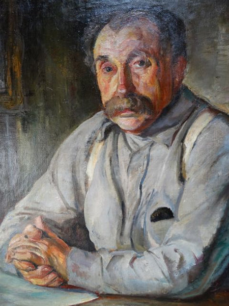 Ejnar Hansen Portrait of a Man with Mustache