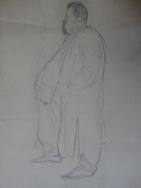 Ejnar Hansen Sketch of a Big Man