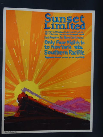 Sam Hyde Harris Poster Art for Sunset Limited