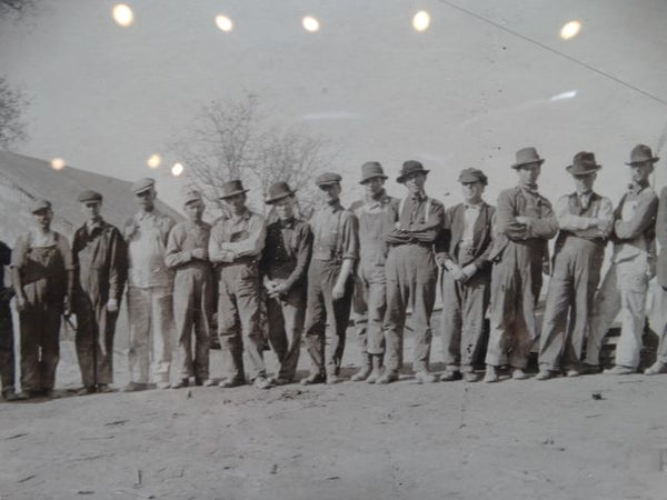 Dorman Bros Panoramic Photograph Bakersfield Work Crew 1916