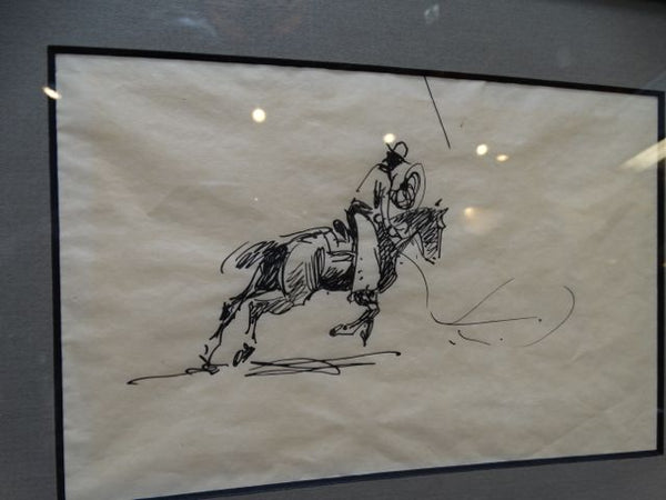 Edward Borein Rope Casting Cowboy Ink Study