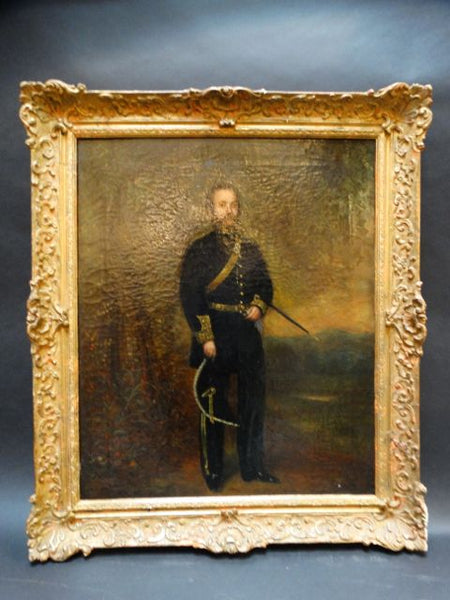 Alexander Melville Portrait of a Mexican Officer c 1865 Oil on Canvas P1186