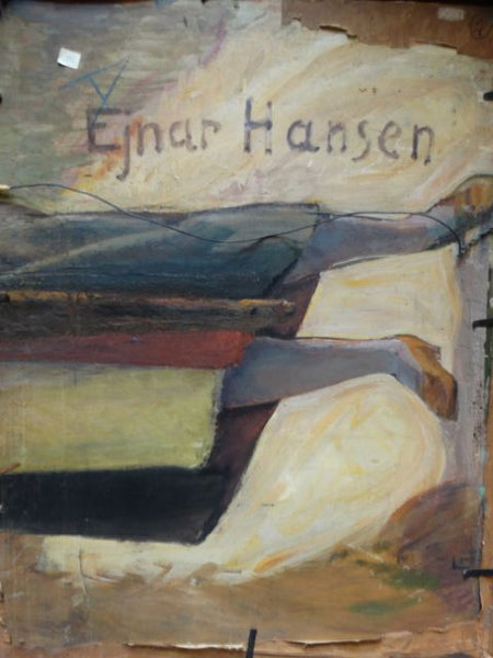 "Ejnar Hansen ""Pensive Woman"" Oil on Canvas"