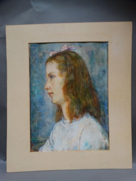"Ejnar Hansen Watercolor ""Girl"""