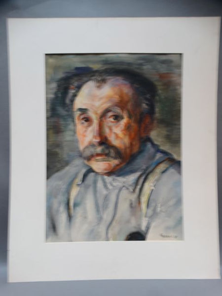 Ejnar Hansen Watercolor Older Man