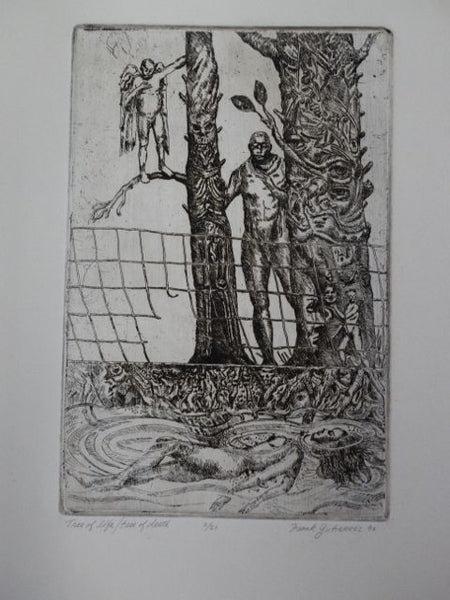 "Frank Gutierrez ""Tree of Life, Tree of Death"" Etching"