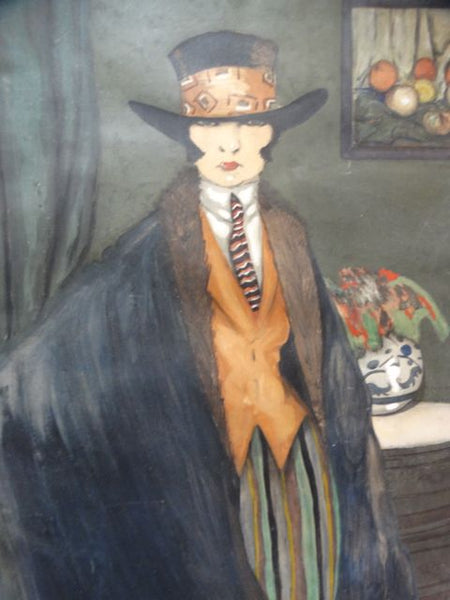 Ramón Jou Senabre (1893 -1978) Portrait Of A Lady 1920 Watercolor