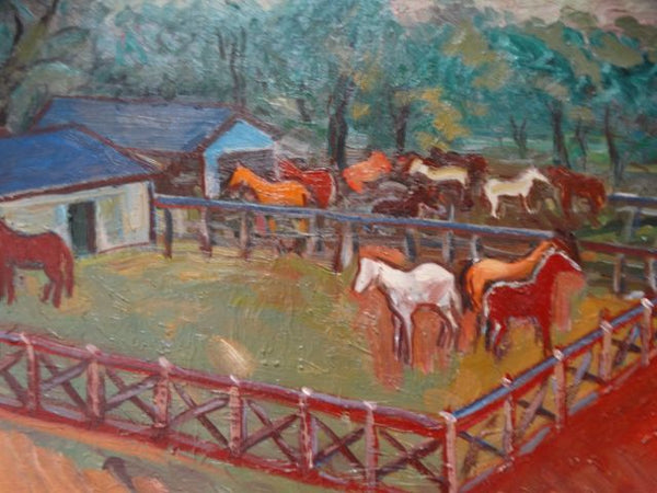 Anders Aldrin Landscape - Horses and Corrals