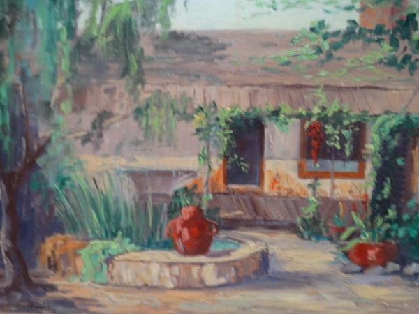 Eva R. Vanloan Smith: California Courtyard 1920s