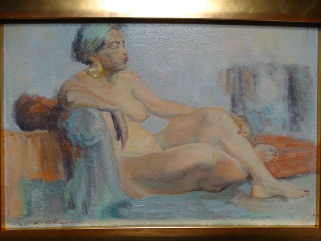 Albert J Londraville Reclining African American Nude 1953