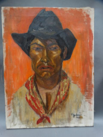 Margaret Weihmann: Mexican Cowboy with Red Scarf
