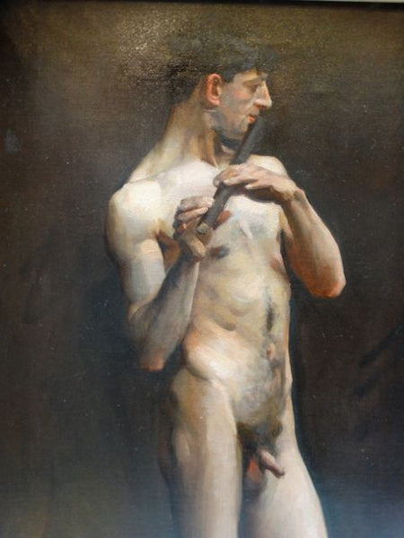 Standing Nude with Flute