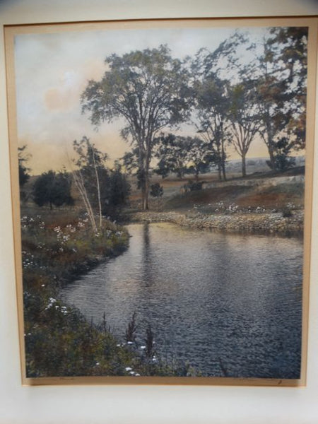 "Wallace Nutting Original Hand-Tinted Photograph ""Summer Wind"""