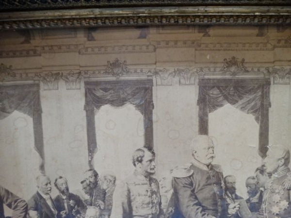 Berlin Congress of 1885 Print with Amazing Frame
