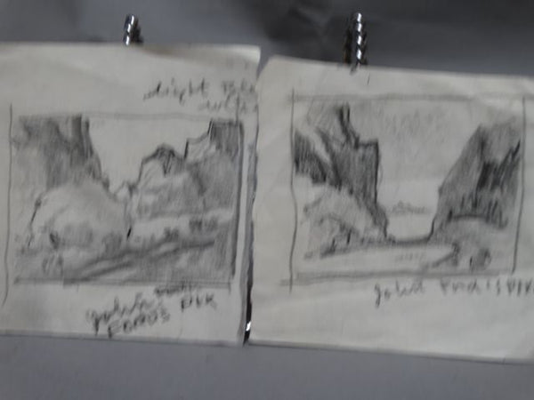 Walt Lee: Pair of Sketches
