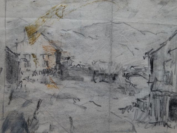 Walt Lee: Sketches, Rough of House and Outbuilding