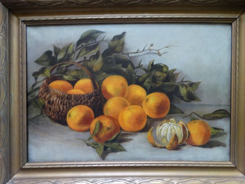 19th Century California Still Life of Oranges