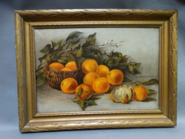 19th Century California Still Life of Oranges P1396
