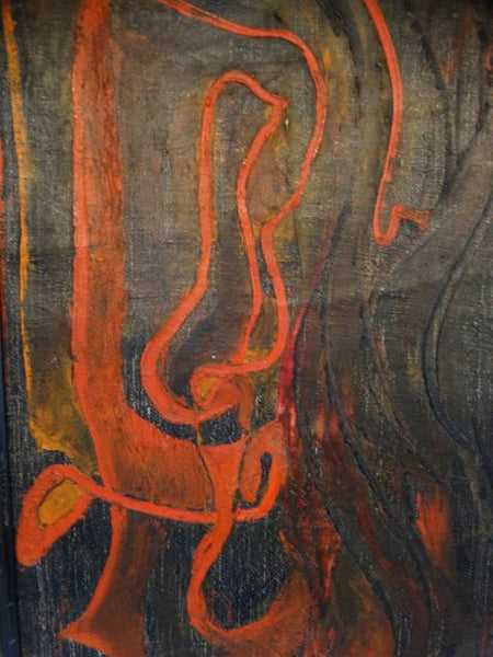 Mexican Abstract Painting 1955 Signed Garrido