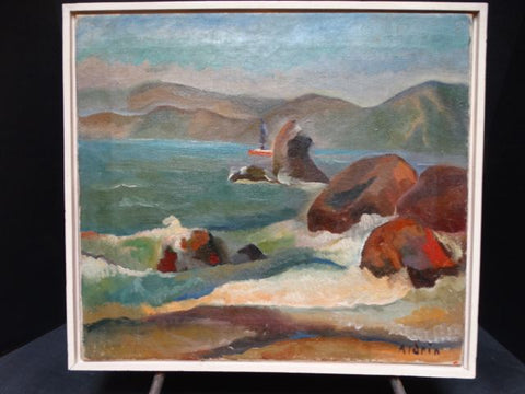 Anders Aldrin (1889-1970) Landscape - San Francisco Golden Gate Coast 1928 P1405