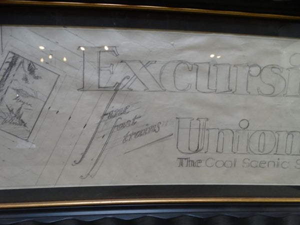 Sam Hyde Harris Union Pacific Excursions Advertising Maquette Sketch (1930s)
