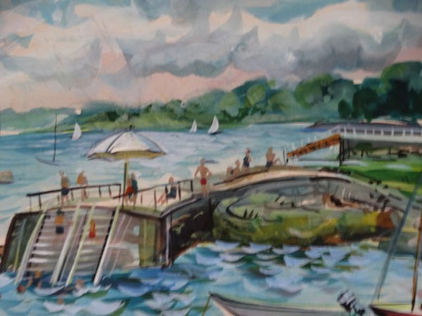 Swimming Jetty Watercolor