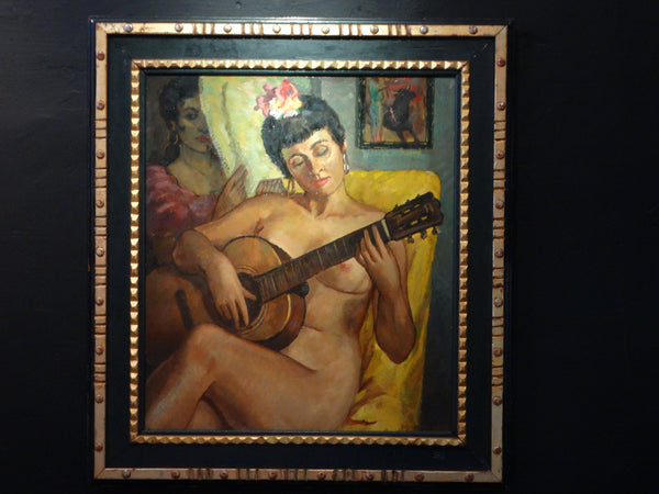 Buckley MacGurrin: Nude with Guitar P1567