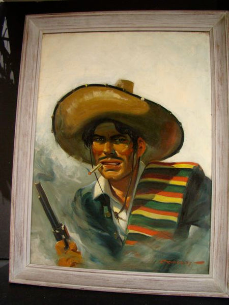 Earl Somers Cordrey Pulp Western Bandito painting