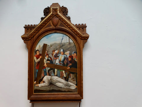 French Gothic 19th Century Station of the Cross