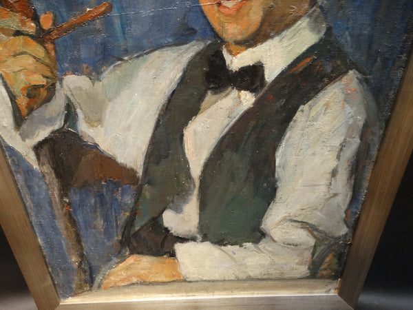 Ejnar Hansen, portrait of a young man with pipe