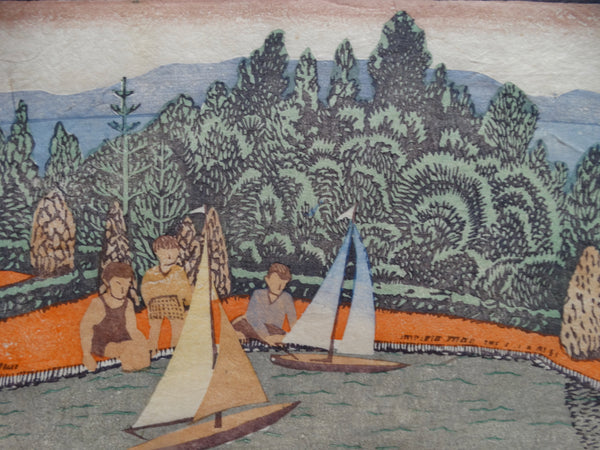 Anders Aldrin: Children with Boats