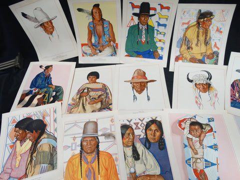 Winold Reiss - collection of Native American portraits (lithographs)