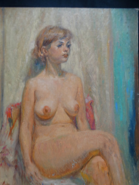 Albert J Londraville Seated Nude Crossing Her Leg