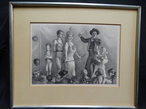 Circus People - lithograph