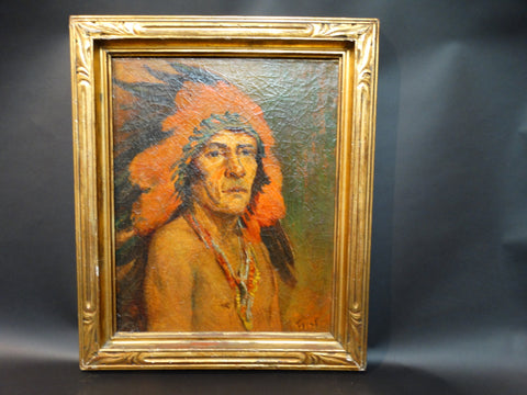 Eleanor Challiss Faust: Portrait of Indian Chief