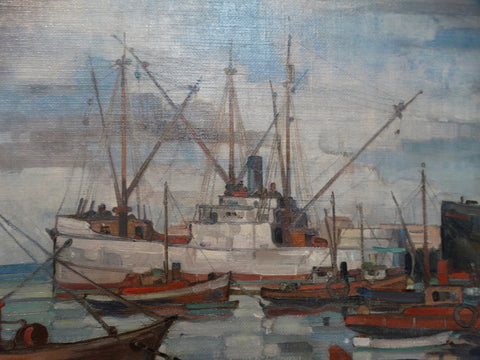 Richmond Irwin Kelsey: Santa Barbara Harbor
