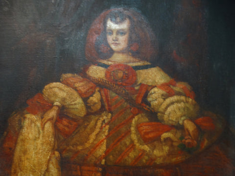 Biltmore Lobby Painting of a Spanish Princess in the style of Velasquez