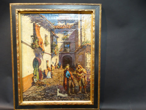19th Century Spanish Courtyard Scene