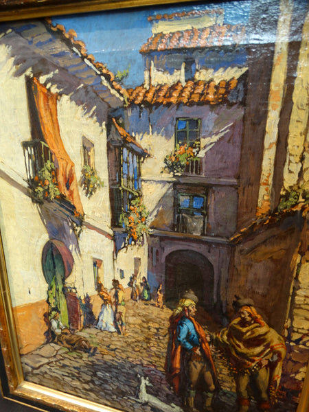 19th Century Spanish Courtyard Scene P2165