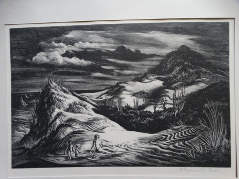 Reginald Neal: Dunes Lithograph