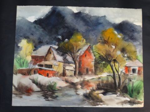 Will Frates: California Barn Watercolor