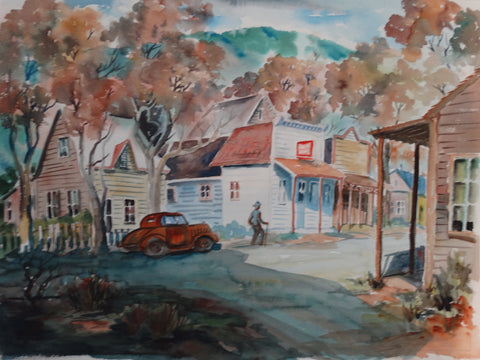 Will Frates: City Street Watercolor