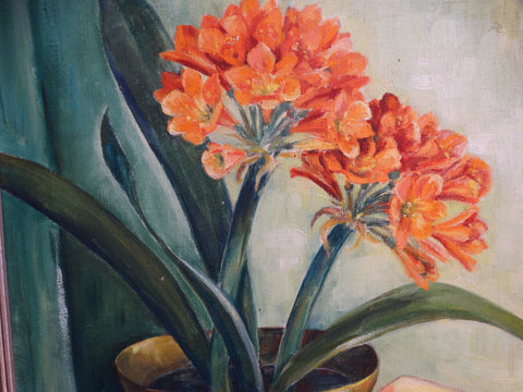Mabel Sumerlin Still Life with Potted Amaryllis