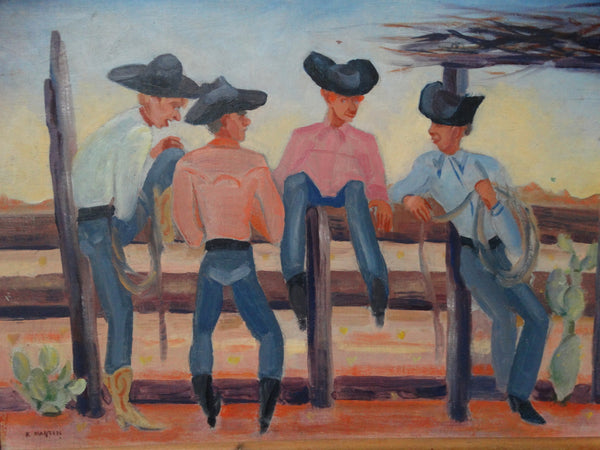 K. Martin: Cowboys on Fence