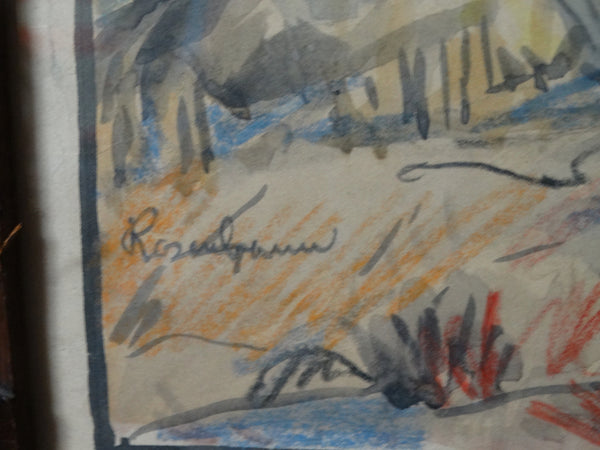 Desert Watercolor by Howell Rosenbaum P2317