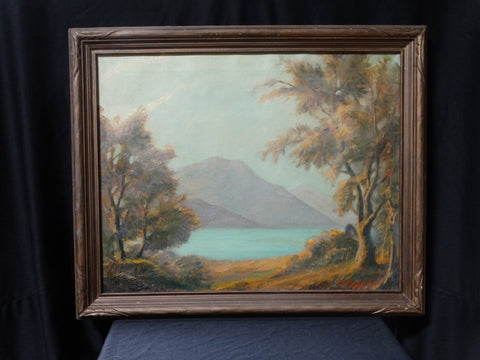 "Harry Muir Kurtzworth: Landscape with Lake ""California View"""